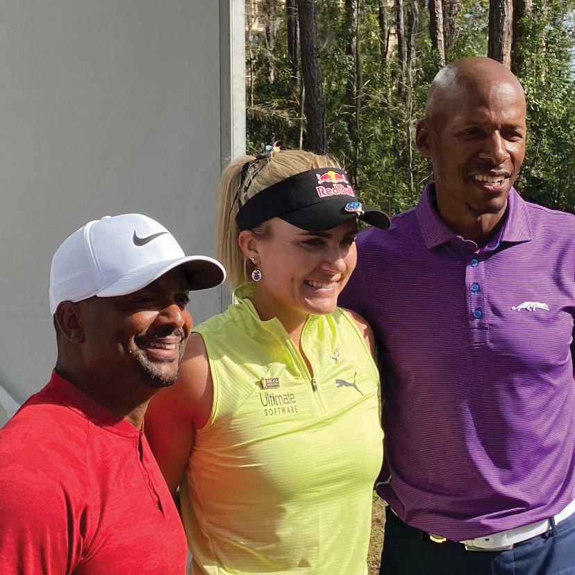 Alfonso Ribiero, Lexi Thompson and Ray Allen