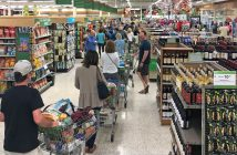 Grocery store crowds