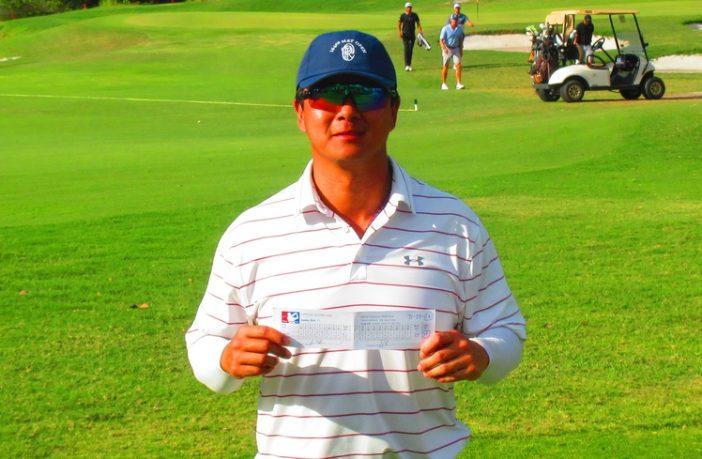 Sunny Kim and his 59 scorecard
