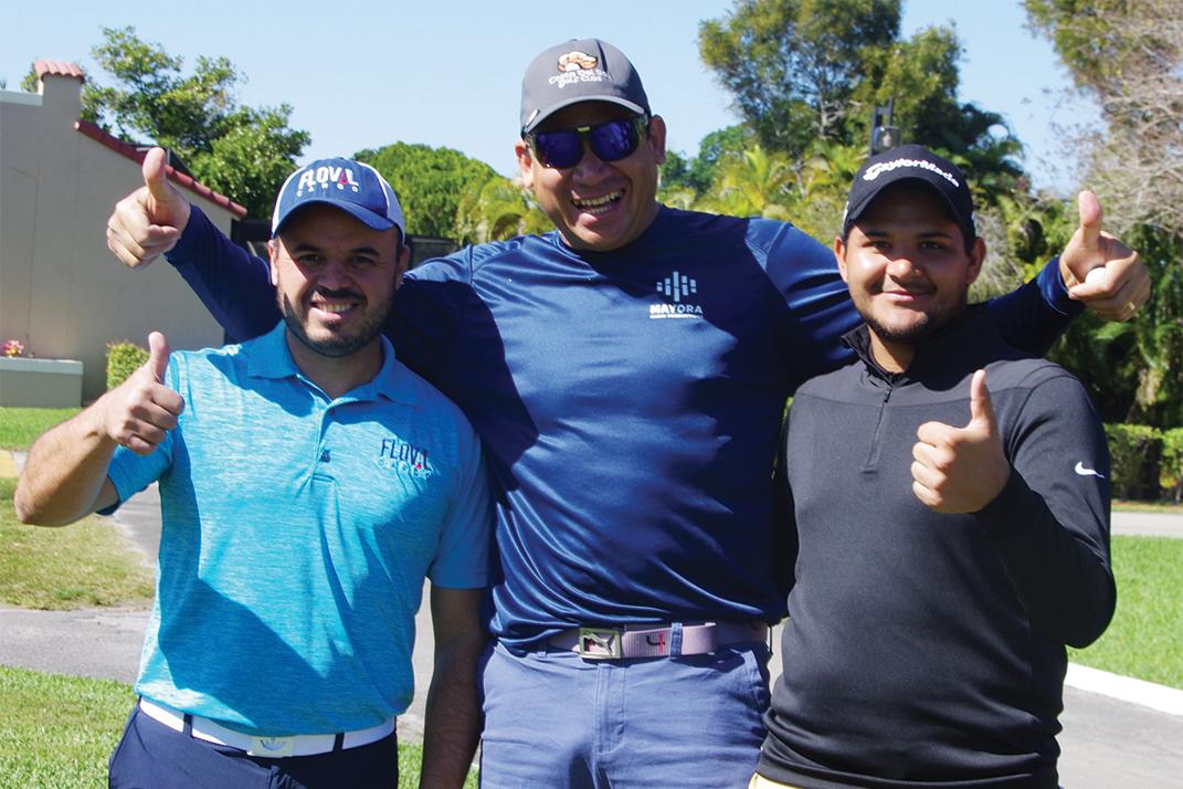Rafael Mendez, Edgar Mayora and Manuel Flores give Costa Del Sol a thumbs up.